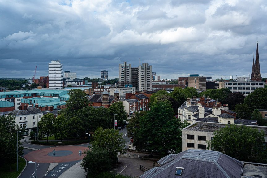 A view of the Coventry Skyline from Friars House