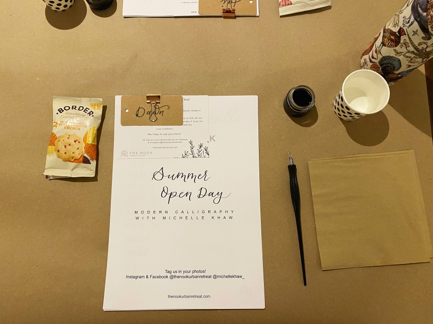 The Nook: A Day of Calligraphy andYoga